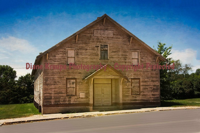 Ghost town Boarding House/School in  Cleveland, North Dakota.   Photo# 65