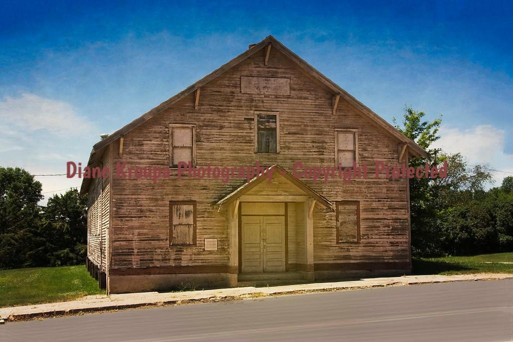 Ghost town Boarding House/School in  Cleveland, North Dakota.   Photo# 65