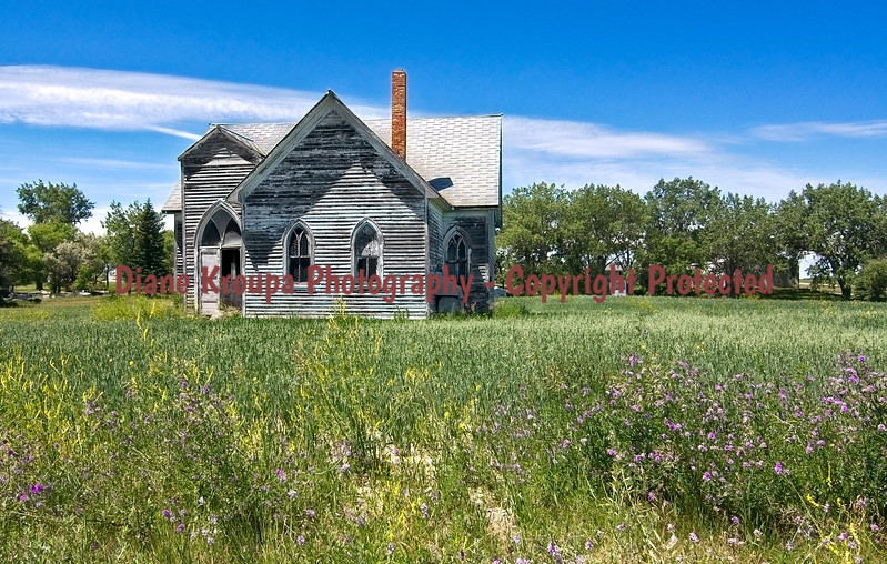 North Dakota Ghost town - old abandoned church, Crystal Springs, North Dakota    Photo# 32