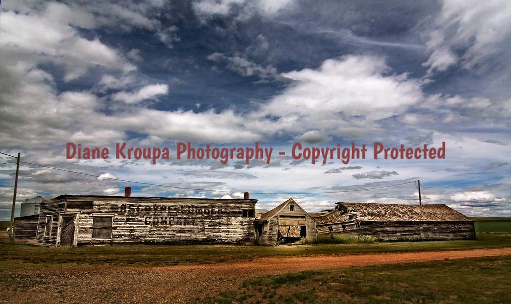 Gasgoyne Lumber Company, Gascoyne Ghost town, Gascoyne, North Dakota.  Photo# 48