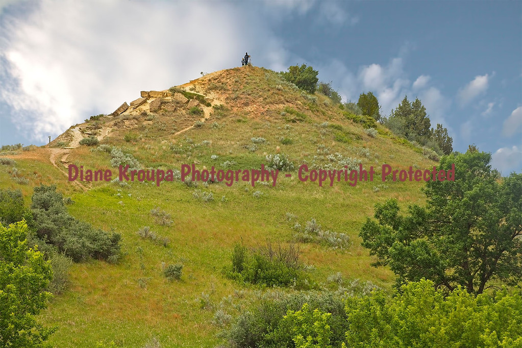 Theodore Roosevelt National Park - South Unit - near Skyline Vista - a father and his two sons helped me up when I tripped on the climb - a true good samaratian.  Photo# 70