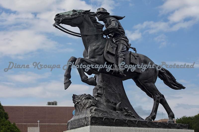 Pony Express Statue - St. Joseph, Missouri.  Photo# 182
