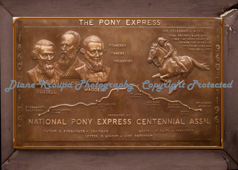 Pony Express  Route and Founders   Photo #904