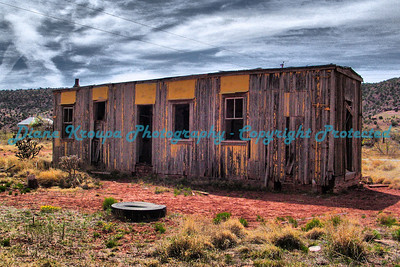Old Box car home in Cuervo, New Mexico, on Old Route 66.  Photo 6601
