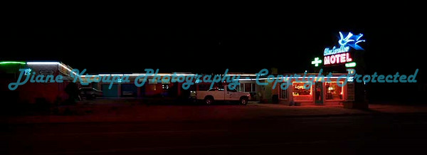 Blue Swallow Motel on Route #66 in Tucumcari, NM.  Photo#8983
