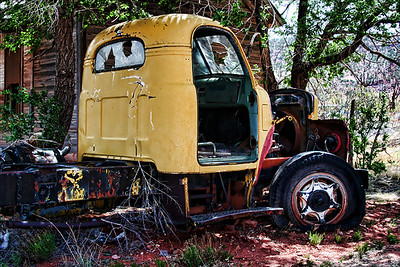 Old Semi truck at end of the ride in Cuervo, New Mexico, on Old Route 66. Photo #6606