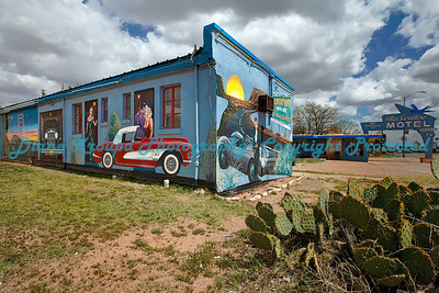 Blue Swallow Motel in Tucumcari, NM, on Route 66.  Photo #R6600