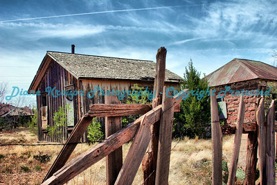 Ghost town in Cuervo, New Mexico, on Old Route 66.  Photo #6604
