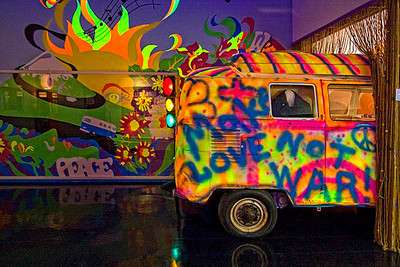 An old Flower Children VW Bus.  Photo #66-666