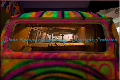 VW Bus - Neon Paint - Flower Children buggie of the 60's.  Photo #VW-Neon Bus