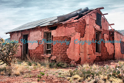 Old Ghost town residence in Cuervo, New Mexico, on Old Route 66. Photo #6602