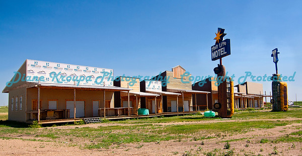 Motel rooms and store fronts at Full Throttle Saloon, Vale, South Dakota   Photo #351