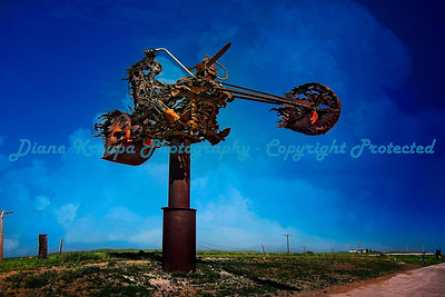Huge Metal Sculpture at Full Throttle Saloon, Vale, South Dakota  Photo #267