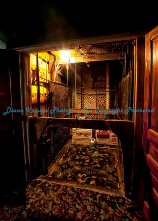 Deadwood Dick's Hotel/Casino, freight elevator, Deadwood, South Dakota.  Photo #487