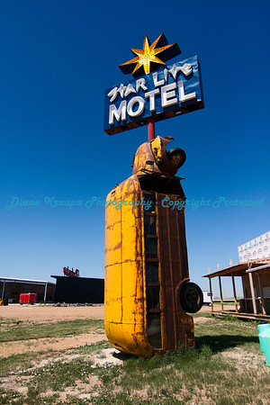 Motel sign and marquee at Full Throttle Saloon, Vale, South Dakota   Photo #362