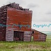 Grain Elevator destroyed by tornado - Okaton, South Dakota - Ghost Town.  Photo #171