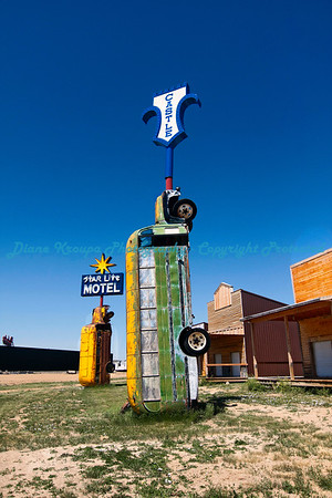 Motel signs at Full Throttle Saloon, Vale, South Dakota   Photo #366