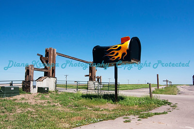 Giant Mailbox at entrance to Full Throttle Saloon, Vale, South Dakota  Photo #257