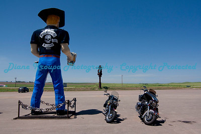 Big Biker statue at Full Throttle Saloon, Vale, South Dakota  Photo #438