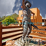 Gold Miner Statue - at Days of 76 Museum, Deadwood, SD.  Photo# 26