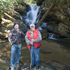 Harry and Mthimages at waterfall on Clear Creek.  Just inside the Georgia State Line