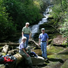 Dee, Jack and John at Dismal Falls
