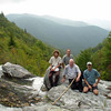 Cathy, Harry, Mtnimages and Rich  resting at the top of Sam Branch.  Photo by Rich Stevenson