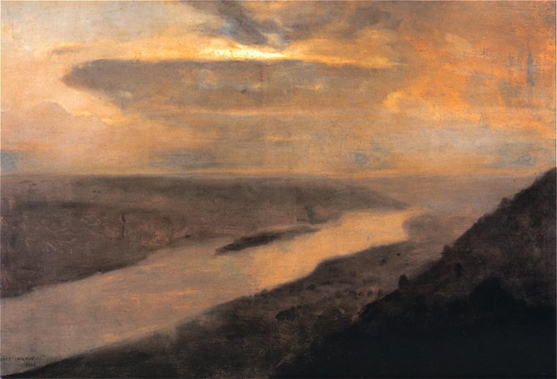 "Йосиф Челмонський. ""Ніч над Дністром"" * Josef Chelmonski ""Dnister v nocy"" (1906)"