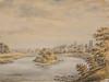 Наполеон Орда. Журавно над Дністром. акварель