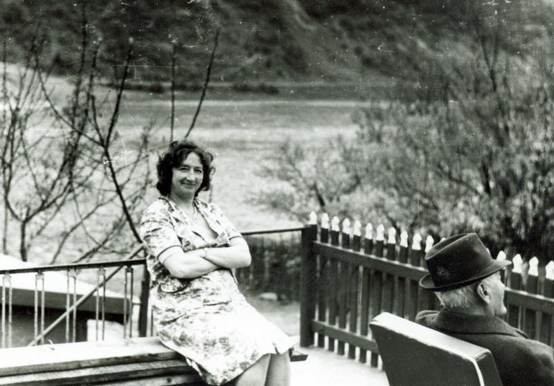 Сткфанія Лопух (Білявська) і її тато, Іван Білявський, веретар Армії США з 1-ї Світової війни