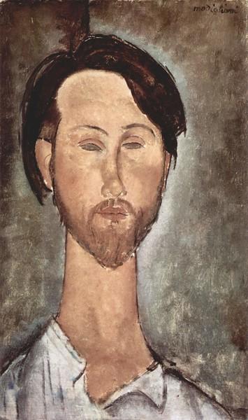 "Amedeo Clemente Modigliani. ""Retrato de Leopoldo Zborowski"". * Амадео Модильяні. Портрет Леопольда Зборовського (1919)"