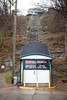 "The Fenelon Place Elevator in Dubuque bills itself as ""the world's shortest and steepest scenic railway."""