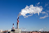 View from the 59th St.Bridge. Transcanada Ravenswood power plant in Queens.