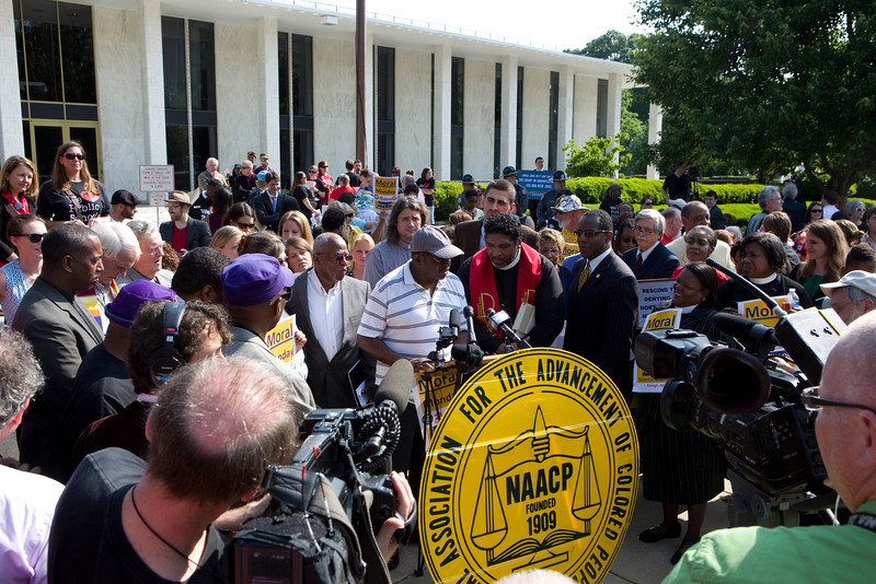Demonstrations outside the North Carolina State Legislative Building