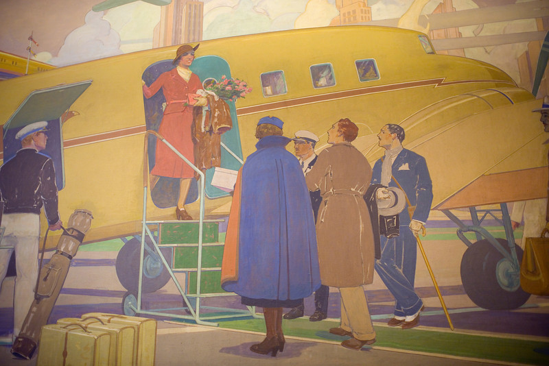 A mural inside the Brown Palace Hotel