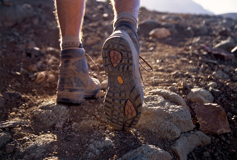 Hiker in the Atlas Mountains, Morocco