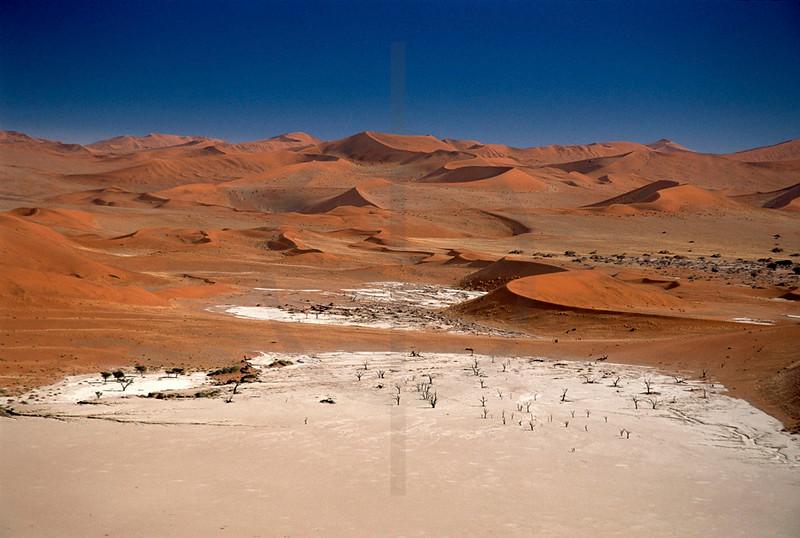 Dead Vlei and dunes, Namib Desert, Namibia