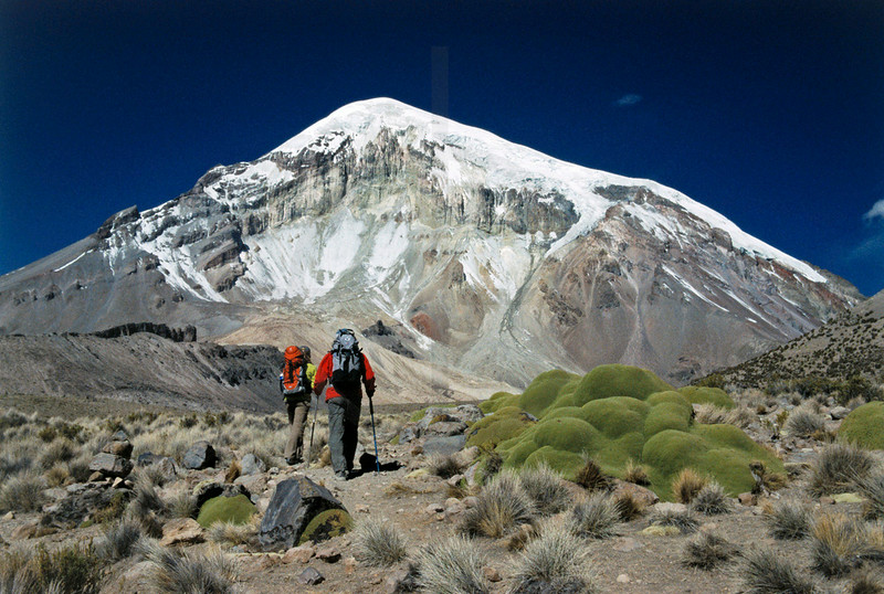 Climbing Sajama volcano, Sajama National Park, Bolivia