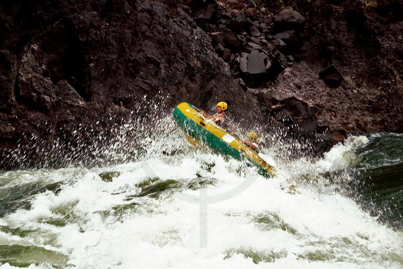 Rafting the mighty Zambezi, Zambesi River, Zambia