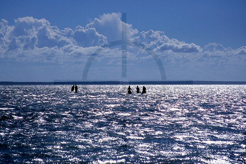 Fishermen at work, Bazaruto Archipelago, Mozambique