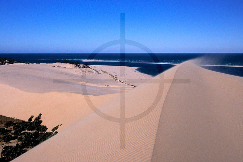 Wind over sand dunes, Bazaruto Island, Bazaruto Archipelago, Mozambique