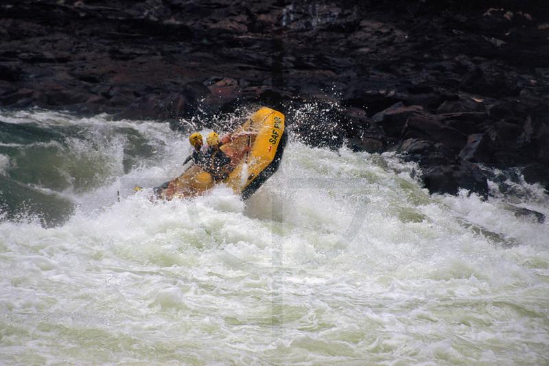 Whitewater rafting on the mighty Zambezi, Zambia