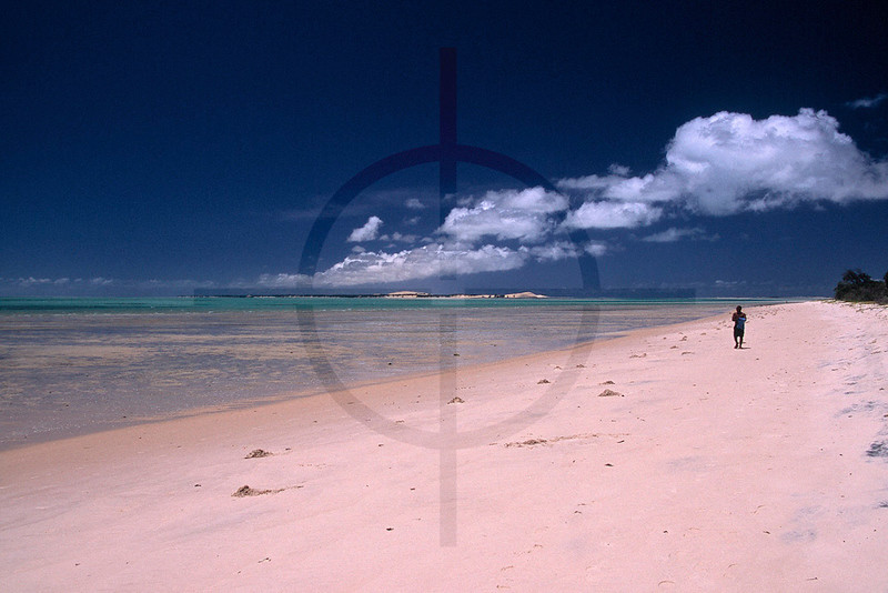 Beach at low tide, Benguerra Island, Bazaruto Archipelago, Mozambique