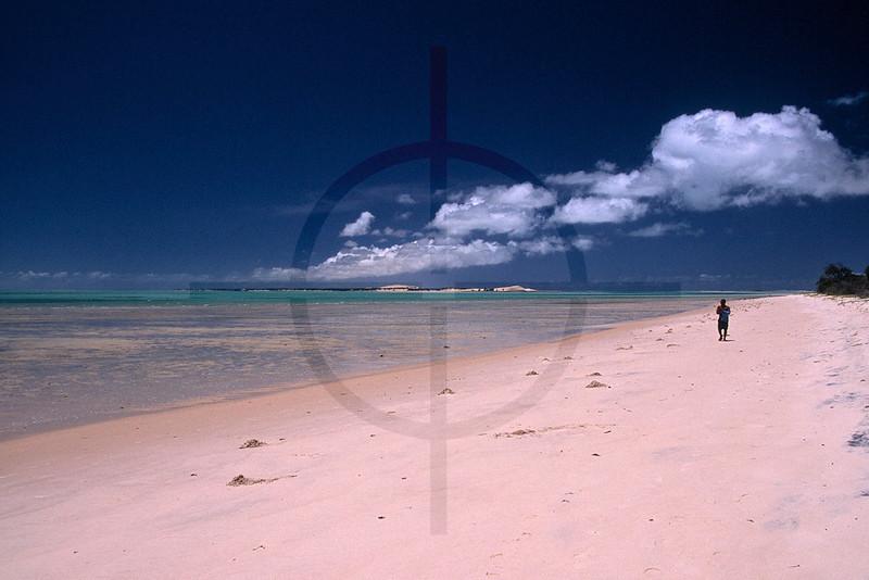 Beach at low tide, Benguerra Island, Bazaruto Archipelago, Mozambique