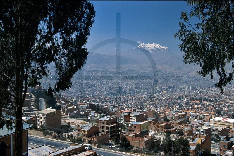 La Paz and Nevado Illimani, Bolivia