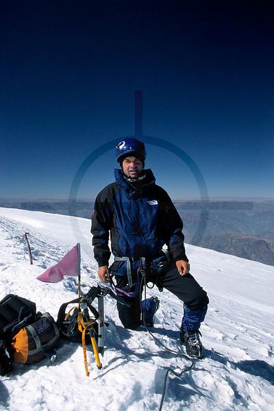 Summit of Illimani South, Cordillera Real, Bolivia