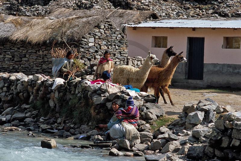 Rural life, Andes north of La Paz, Bolivia