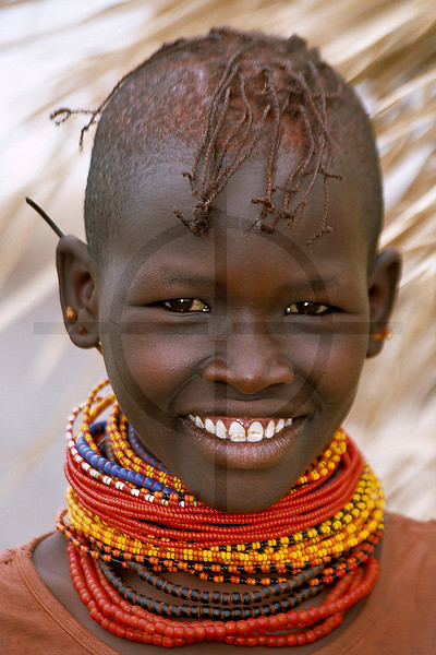 Turkana girl, near Loyangalani, Lake Turkana, Kenya
