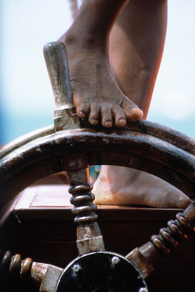 Captain in control: dhow safari off the Kenyan coast