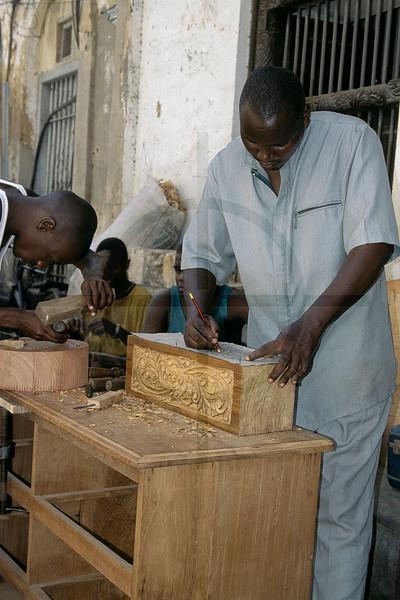 Engraving wood, Mombasa, Kenya